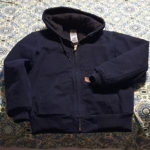 Womens navy winter jacket. Generous size small,